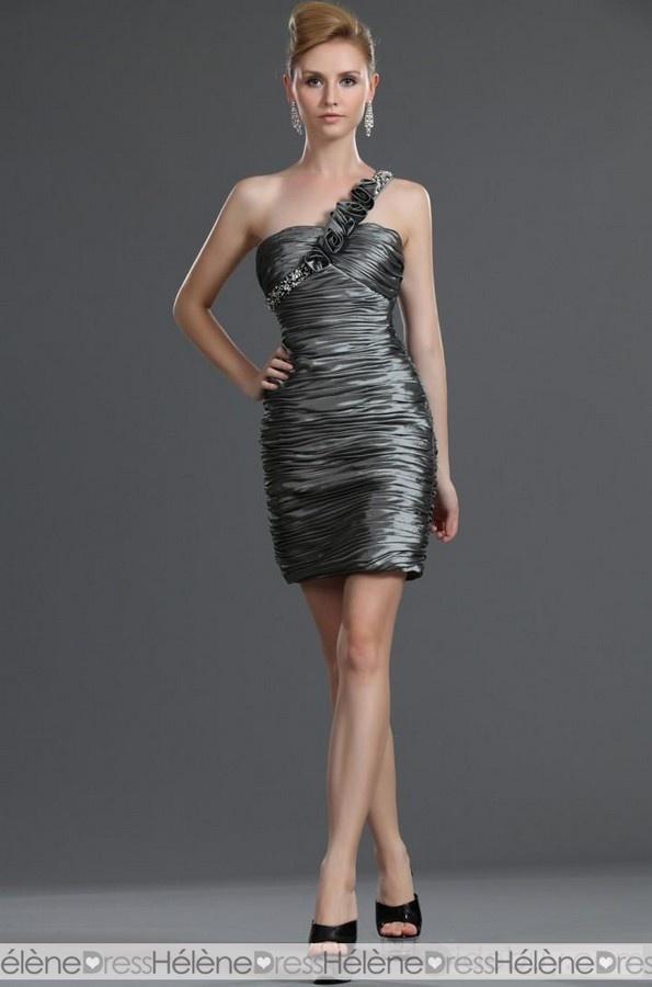 Fabulous Column One Shoulder Ruffles Cocktail Dresses - Cocktail Dresses - Special Occasion Dresses