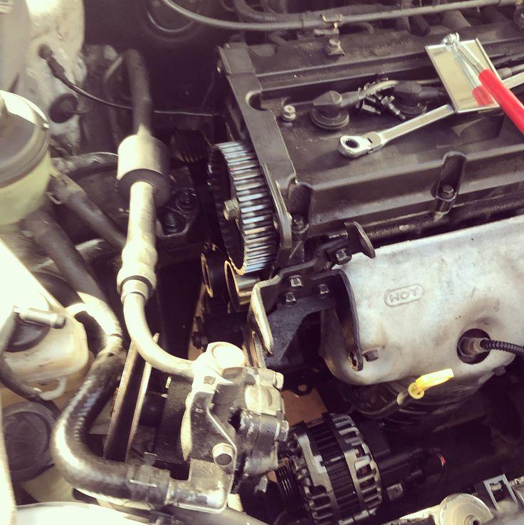 Timing belt and water pump replacement on an 03 Hyundai Accent #mobilemechanic #mechanic #technician #repair #auto #automotivephotography #auto #carsofinstagram  #cars #orangecounty #santaana #orange #irvine #costamesa
