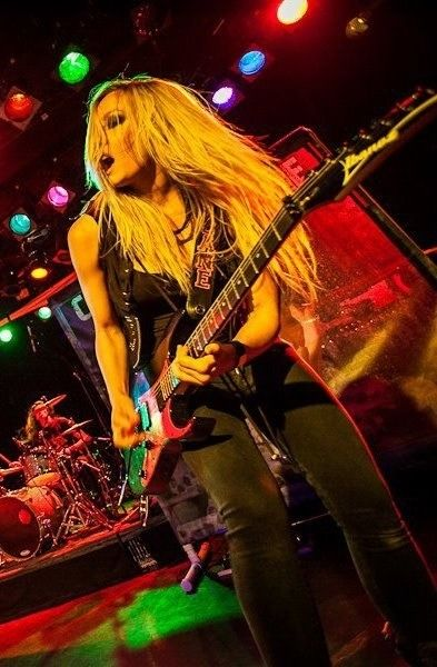 Nita Strauss from The Iron Maidens!