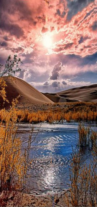 Reflections, at the Great Sand Dunes National Park, Colorado, USA