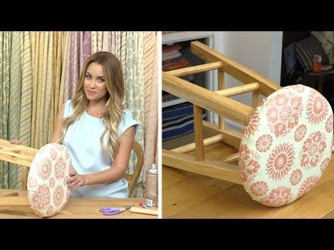 Crafty Creations with Lauren Conrad: Fabric Stool #CraftyCreations #LaurenConrad