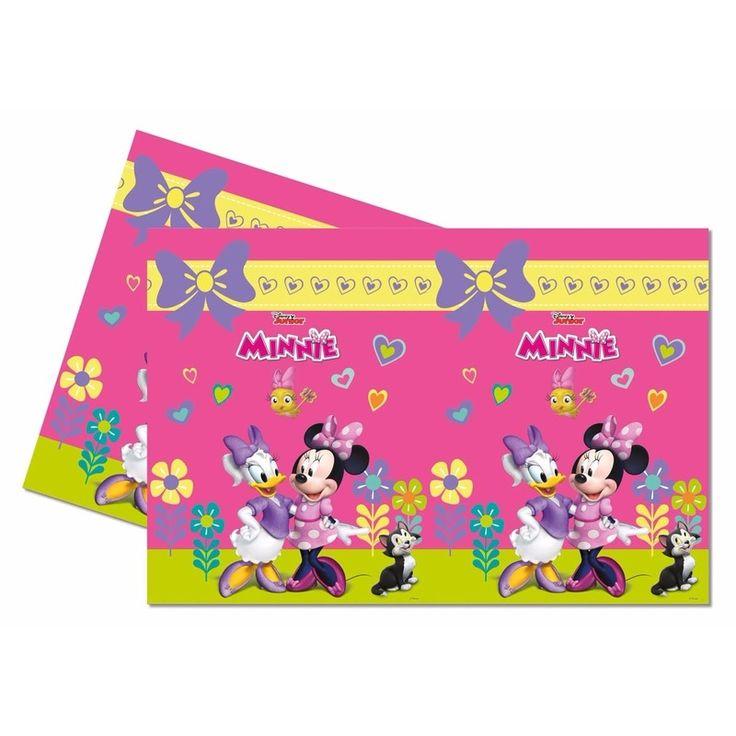 Dit Minnie Mouse tafelkleed heeft een afmeting van ca. 120 x 180 cm. Het tafelkleed is gemaakt van plastic. Het tafelkleed komt uit de Minnie Mouse happy helpers serie.