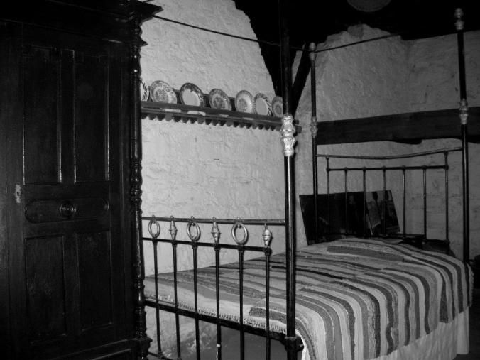Makarios' bed in his home village of Panayia.