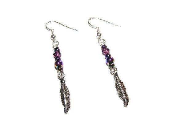 Rainbow Plated Hematite and Swarovski Crystal Earrings £5.99