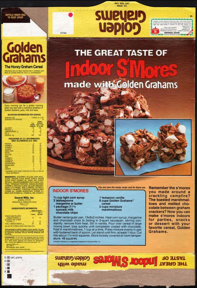 1980's - General Mills - Golden Grahams - Indoor S'Mores - back