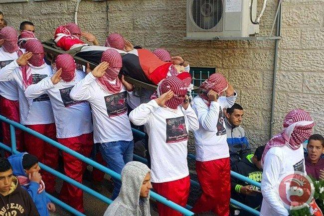 Funeral of Palestinian teen