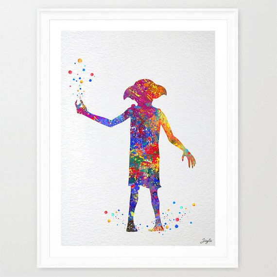 Dobby Harry Potter Watercolor illustration Art by KidsAndHomes