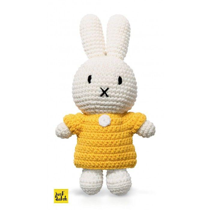Nijntje handmade gehaakt en haar gele jurk - just dutch   Toetiebellie