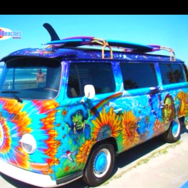 : Buses, Campers, Classic Cars, Jimi Hendrix, Ties Dyes, Vw Bus, Hippie Life, Vw Vans, Dreams Cars