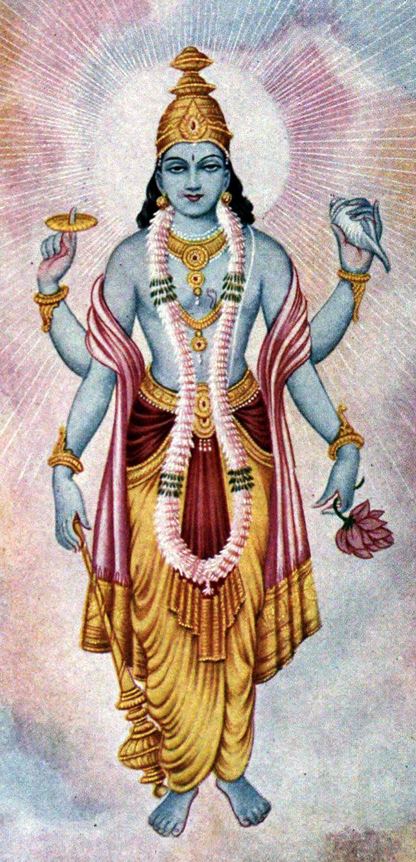 VISNÚ CON SHANKHÁ (caracola). Los hinduistas creen que el dios Vishnú sostiene un shankhá en una de sus cuatro manos, y que lo sopla cuando asesina algún demonio, como signo de victoria. Su sonido estrepitoso aleja a los fantasmas. En los templos de toda India se utilizan caracolas para comenzar y terminar las adoraciones a los murtis (deidades o ídolos): se sopla tres veces consecutivas, cada una de pocos segundos de duración. Algunos sacerdotes, mediante una disposición especial de los…