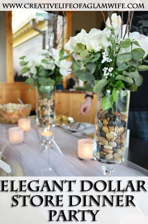 Elegant Dollar Store Dinner Party DIY - Super easy, affordable ideas for YOUR next dinner party~!!!