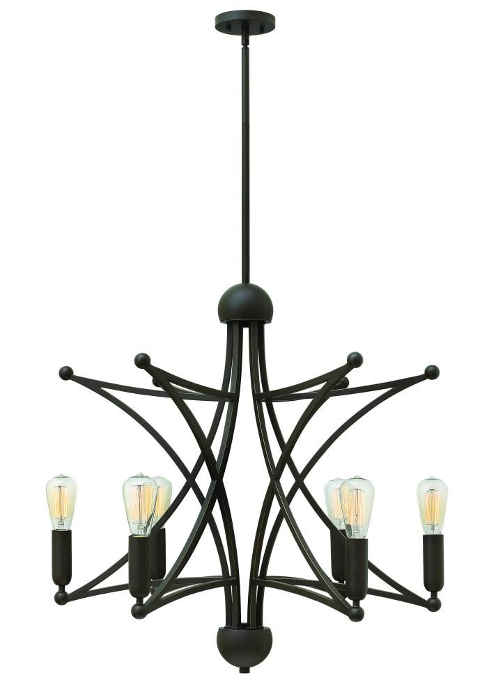 six light oil rubbed bronze up chandelier 3636oz kirby risk