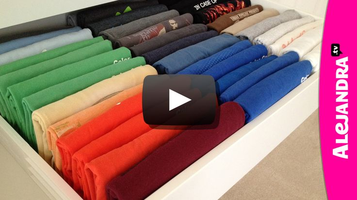 Learn how to fold t-shirts to make them appear perfectly folded, while making it easy to see what you have and maximizing space inside the drawer.