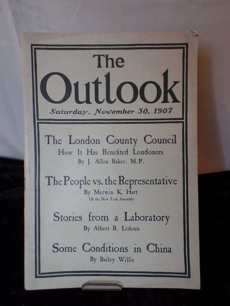 The Outlook A Republican Newspaper November 1907