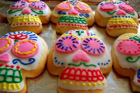 Sugar Skull Sugar Cookies: Food Fav, Birthday Parties Sugar Skull, Sugar Cookies, Skull Sugar, Dead Cookies, Skull Cookies, Fabulous Food, Of The, Cookies Halloween