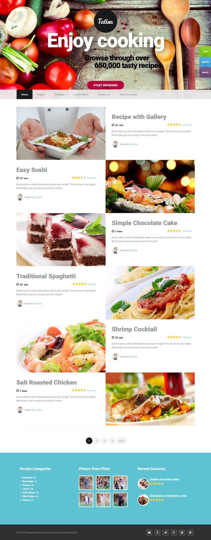 Mejores 852 imgenes de wordpress themes en pinterest tema de talisa food recipes wordpress theme forumfinder Gallery