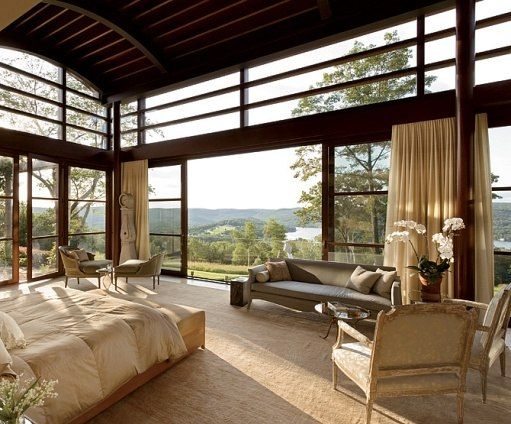 Bedrooms : Architectural Digest. WHAT A VIEW!