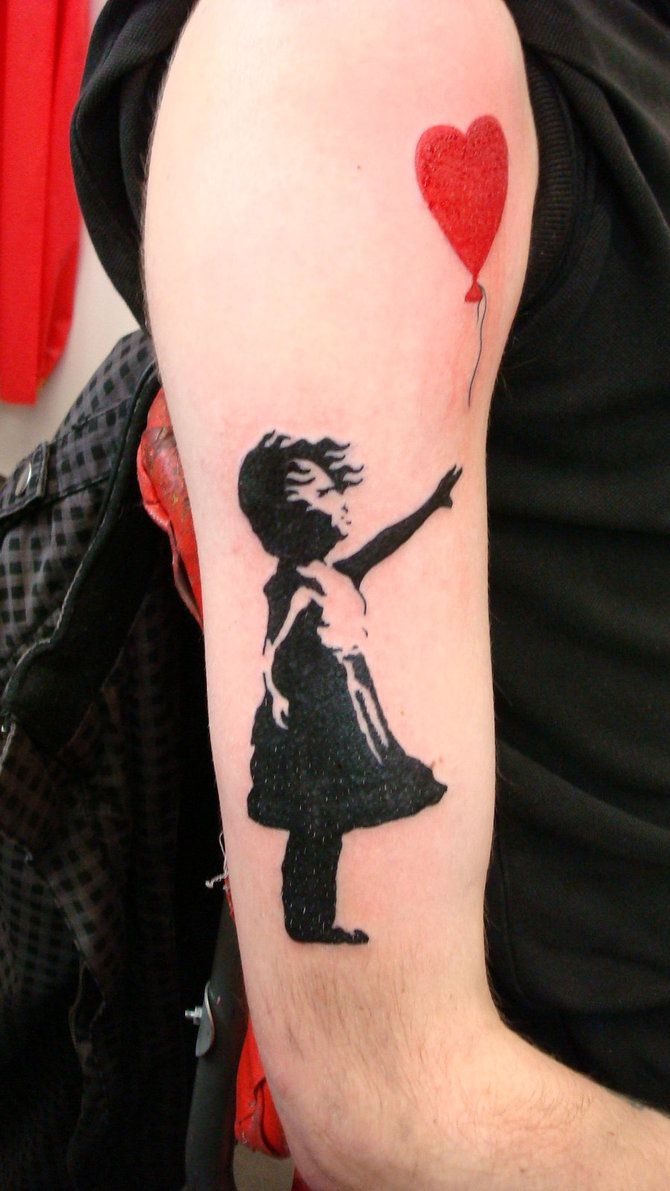16 best banksy tattoo images on pinterest banksy tattoo tattoo ideas and design tattoos. Black Bedroom Furniture Sets. Home Design Ideas