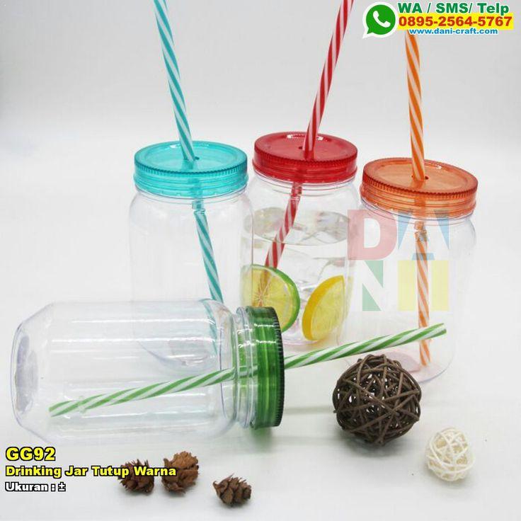 Drinking Jar Tutup Warna WA/SMS/TELP: 0857-4384-2114 atau 0819-0403-4240 #DrinkingJar #HargaJar #souvenirPernikahan #contohundanganPernikahan