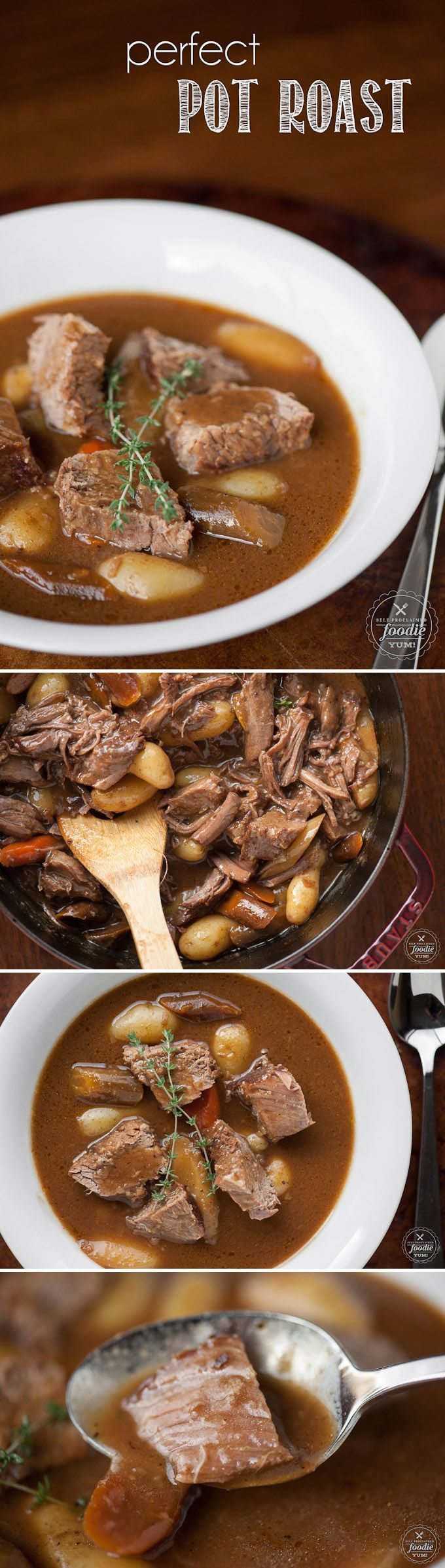 A mouthwatering Perfect Pot Roast takes time because it is slowly braised in the oven, but it is the most flavorful family dinner best enjoyed during the winter. #potroast #dinner #classic