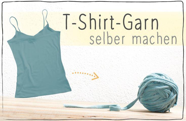 [Tutorial] T-Shirt-Garn herstellen – ALLES selber machen