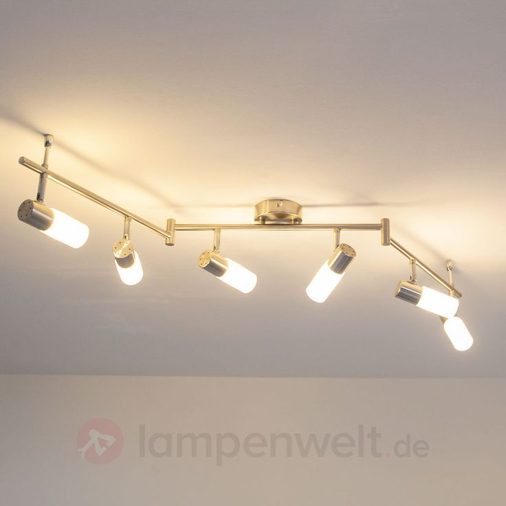 Tamia - 6-flammige LED-Deckenlampe, nickel matt 9950520