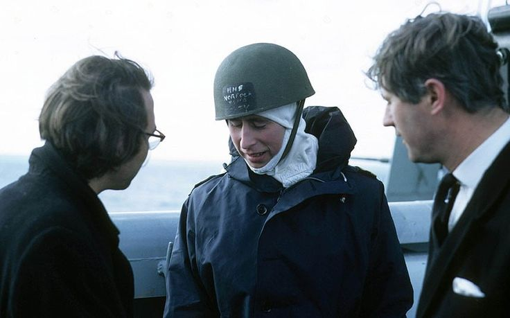 Prince Charles on board HMS Norfolk, serving on the guided missile destroyer 1972