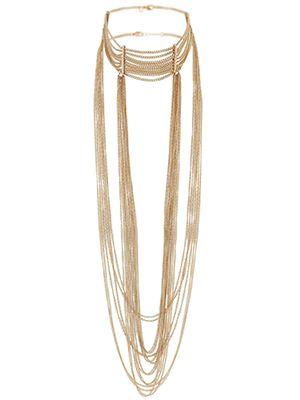 Chain Drop Choker, statement necklace, accessories.