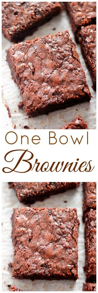 This is my favorite brownie recipe! Chewy, fudgy, oh-so-chocolatey brownies made from scratch - with zero hassle or fuss.