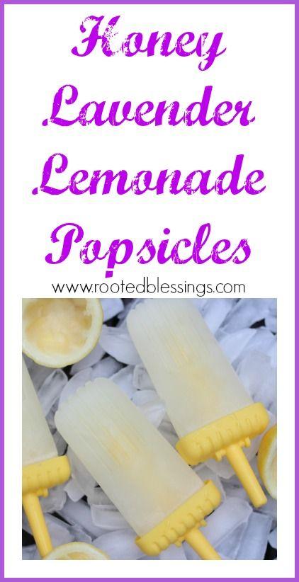 Honey Lavender Lemonade Popsicles