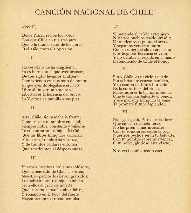 Chile himno nacional