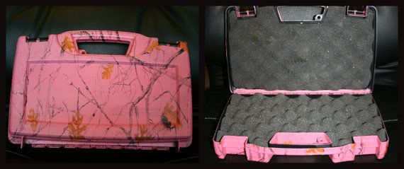 Pink Camo Gun Case by 0DownSouthJewelry0 on Etsy, $25.00