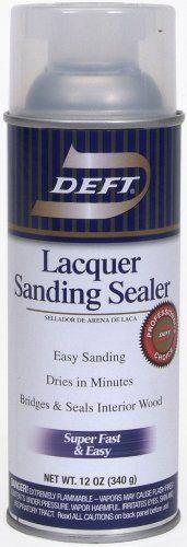 Deft 37125015138 Lacquer Sanding Sealer Spray, 12-Ounce