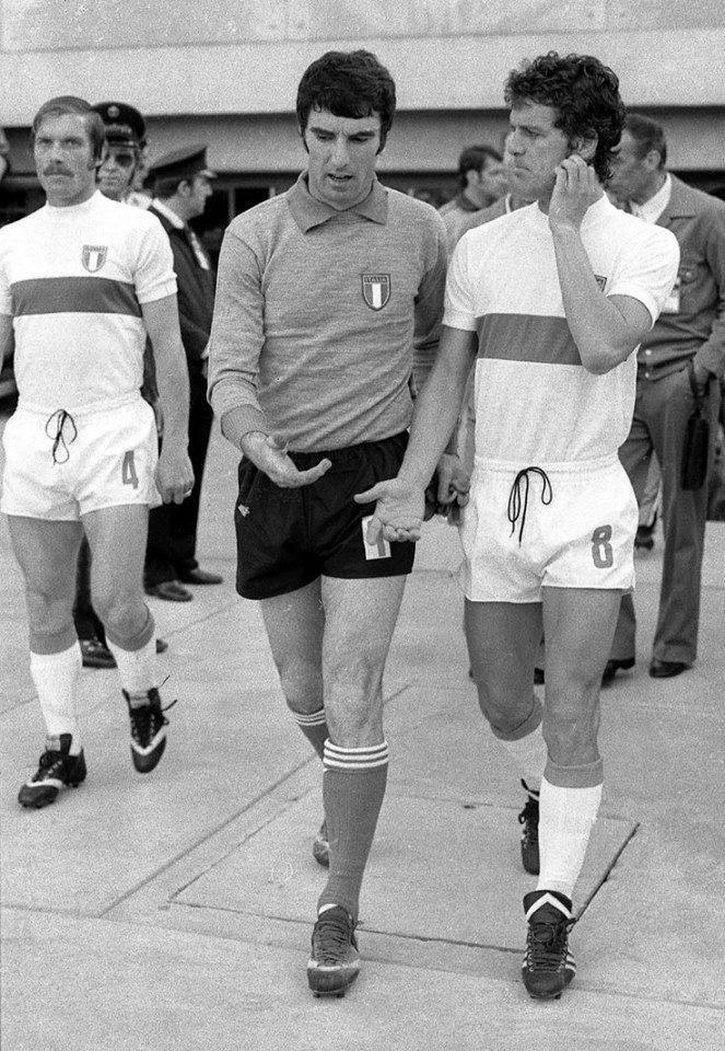 Romeo Benetti, Dino Zoff et Fabio Capello (Italie) CDM 1974