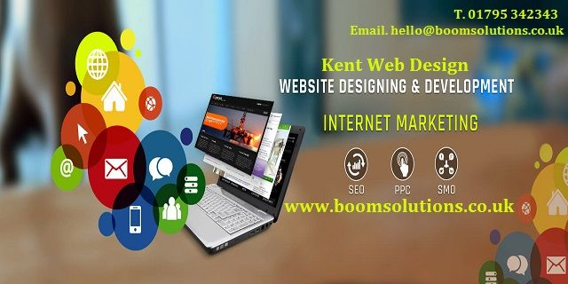 Kent Web Design UK Boom Solutions – We're a small design agency that specialise in helping businesses get he most out of the internet. Wether you are looking for a new website, a full rebrand or to work out a full digital marketing strategy we can help.We offer web design, development, app development, SEO, Google Adwords, Social Media Management, banner advertising services and local online marketing Kent. Call us 01795 342343.