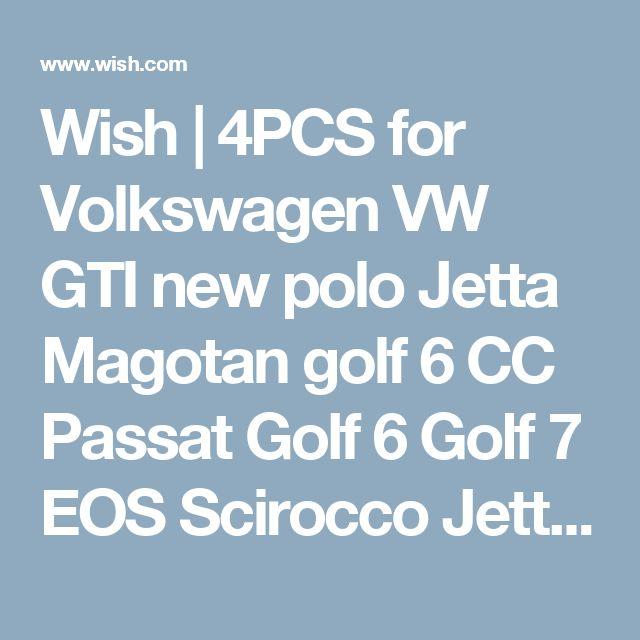 Wish | 4PCS for Volkswagen VW GTI new polo Jetta Magotan golf 6 CC Passat Golf 6 Golf 7 EOS Scirocco Jetta MK5 MK6 valve cap (Farba: Biela)