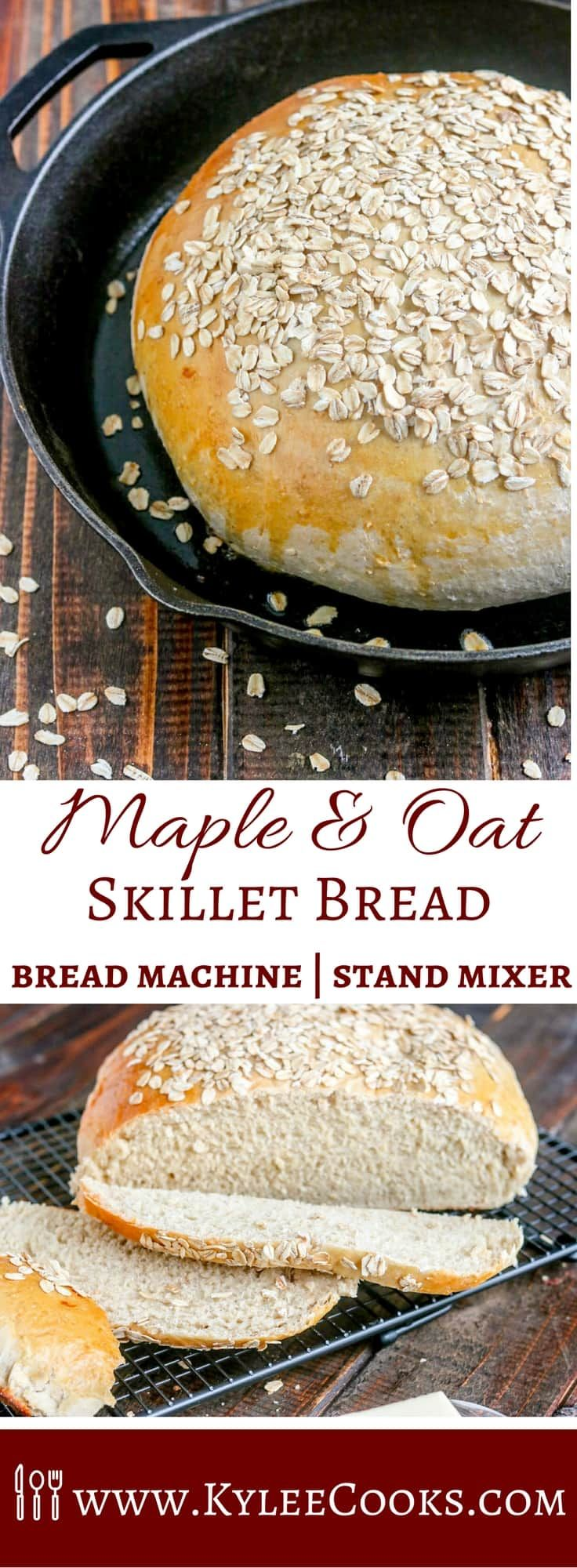 A gorgeous loaf, with a delicious crumb! This Maple Oat Skillet Bread is hearty, delicious and perfect for toasting, sandwiches, or eating with soup. Yum!