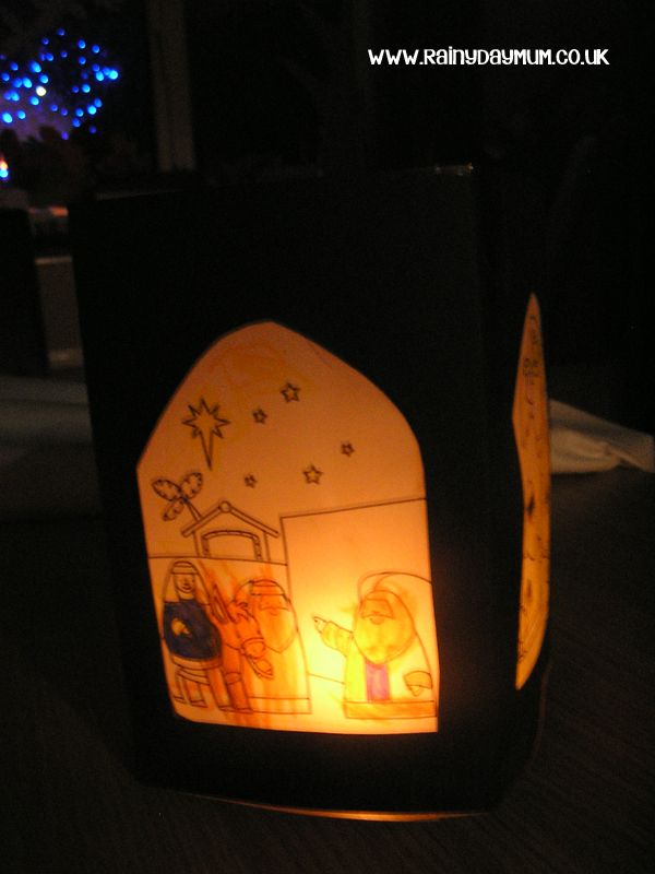 Nativity Lantern to make with Toddlers and Preschoolers