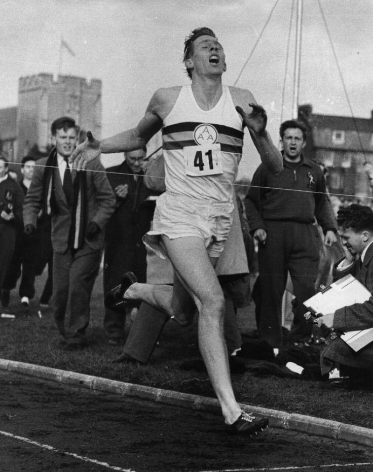 FIRST FOUR MINUTE MILE Roger Bannister was the first man to run a mile in under four minutes. Up until he did it in 1954, most people thought the four-minute mark was impossible to break. They thought...