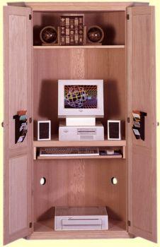 WA C73 Traditional Corner Computer Armoire