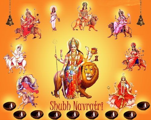 Happy Navratri HD Wallpapers, Greeting Cards, Gif Images