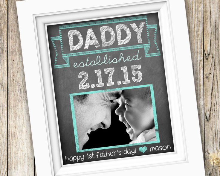 Gifts For Dad From Daughter Part - 47: New Dad First Fatheru0027s Day Gift ~ Personalized Custom Printable Daddy Photo  Subway Art ~ Digital
