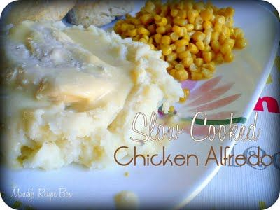 Slow Cooked Chicken Alfredo (raw, cubed or whole chicken breast) Easy ...