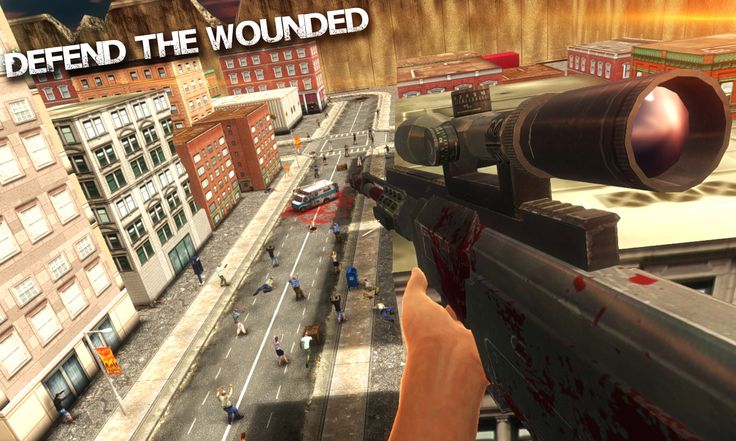 Dead Shot Zombie Hunter    Screenshot of Zombie Sniper Game for Android and iOS.