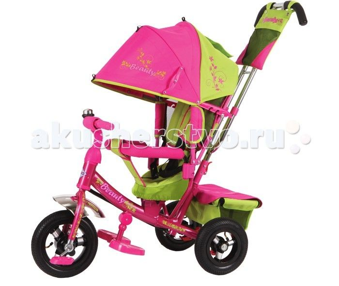 Велосипед трехколесный Beauty BA2 (надувные колёса)  Велосипед трехколесный Beauty BA2 (надувные колёса) обеспечит комфорт и удовольствие для вашего малыша во время прогулки.  Такой универсальный детский транспорт позволяет ребенку как ездить самостоятельно, так и кататься под контролем взрослого. При самостоятельном передвижении ребенок будет приводить велосипед в движение при помощи педалей и управлять им рулем. Если же велосипед выполняет функцию прогулочной коляски, взрослый сможет…