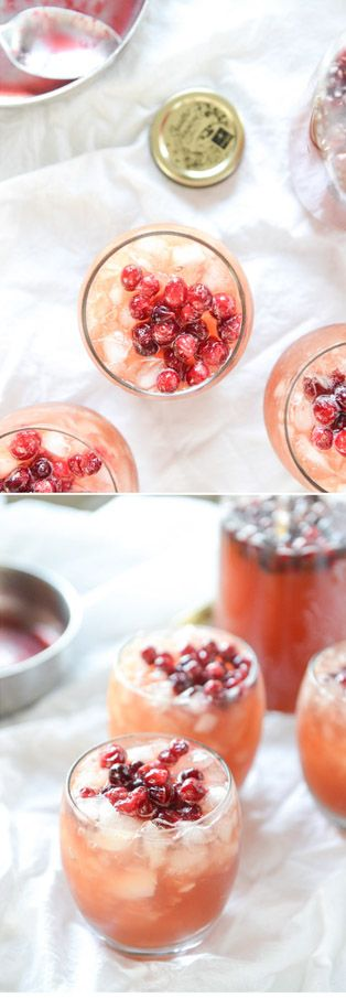 The best mocktail! Cranberry Cider Punch by @howsweeteats I howsweeteats.com