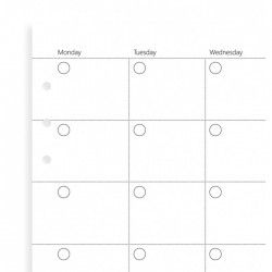 Havi Filofax Clipbook Naptárbetét dátum nélkül