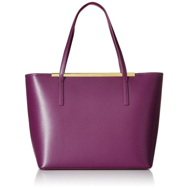 Ted Baker Noelle Crosshatch Shopper Tote Bag (390 BGN) ❤ liked on Polyvore featuring bags, handbags, tote bags, shopping tote, shopping tote bags, purple tote bag, ted baker purse and shopper purses