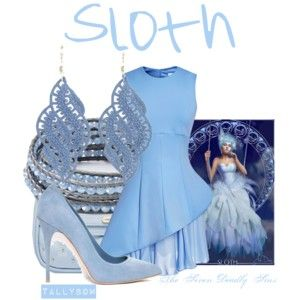 """Outfits inspired by """"Sloth"""" - The Seven Deadly Sins by Marta Dahlig"""