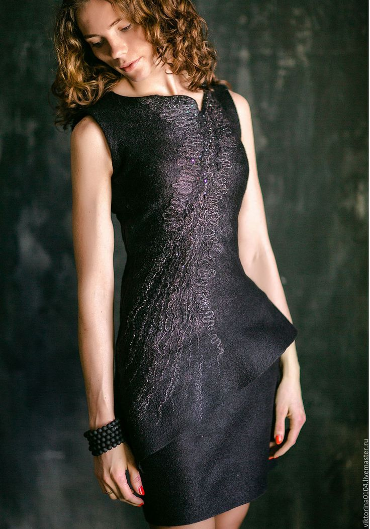 """Купить Платье """"Маленькое черное 4"""" - черный, абстрактный, платье черное, маленькое черное платье"""